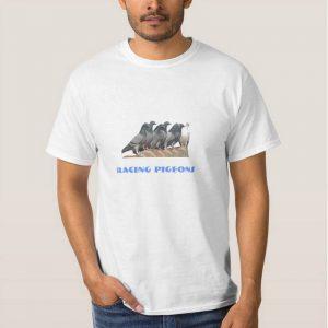 camiseta palomas sobre el tejado